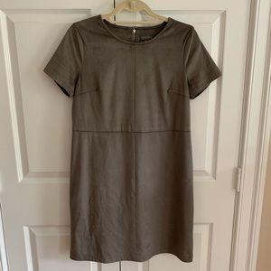 Vince Camuto Short Sleeve Faux Suede Dress